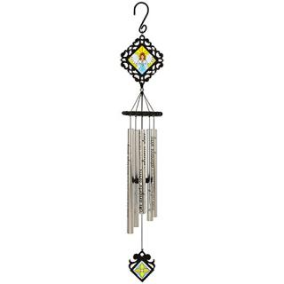 "35"" Classic Stained Glass Sonnet Chime - Angel Arms"