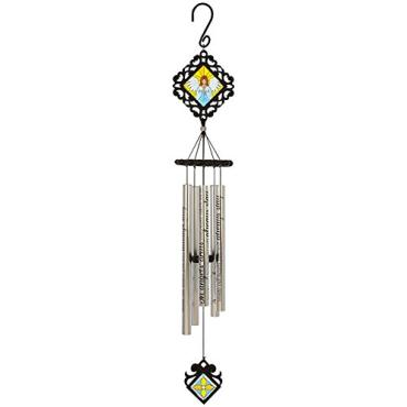 "35"" Stained Glass Sonnet Chime - Angel Arms"