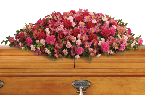 A Life Loved Casket Spray