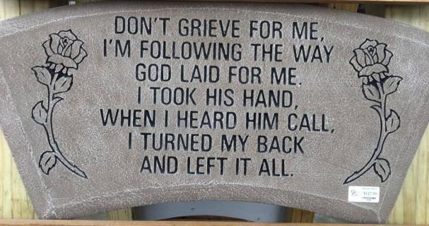 """Don\'t grieve for me...\"""